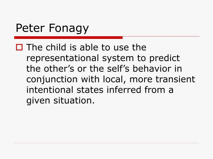 Peter Fonagy
