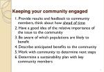 keeping your community engaged