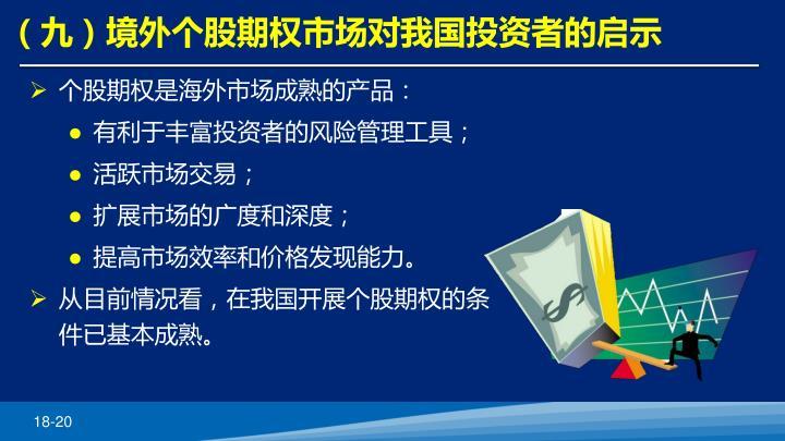 (九)境外个股期权市场对我国投资者的启示