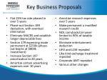 key business proposals