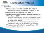 key individual proposals1