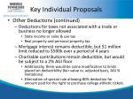 key individual proposals5