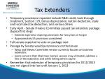 tax extenders