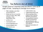 tax reform act of 20142