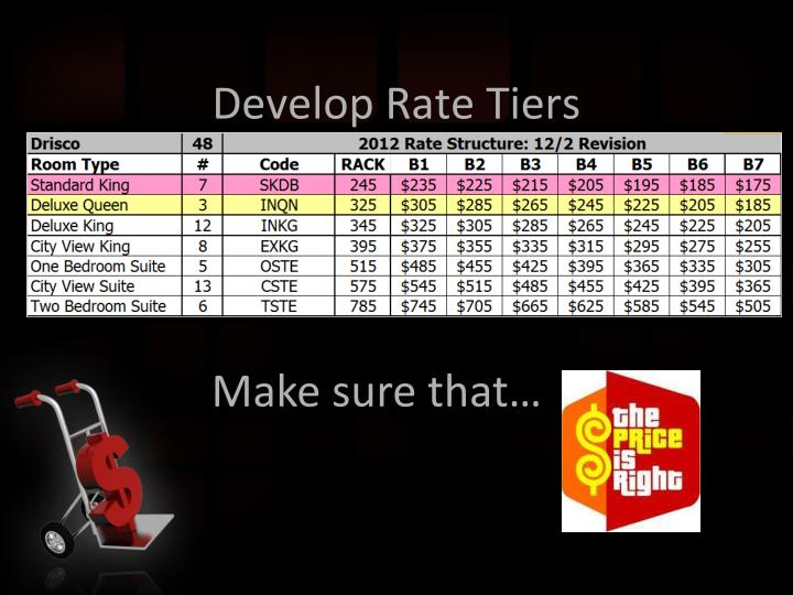 Develop Rate Tiers