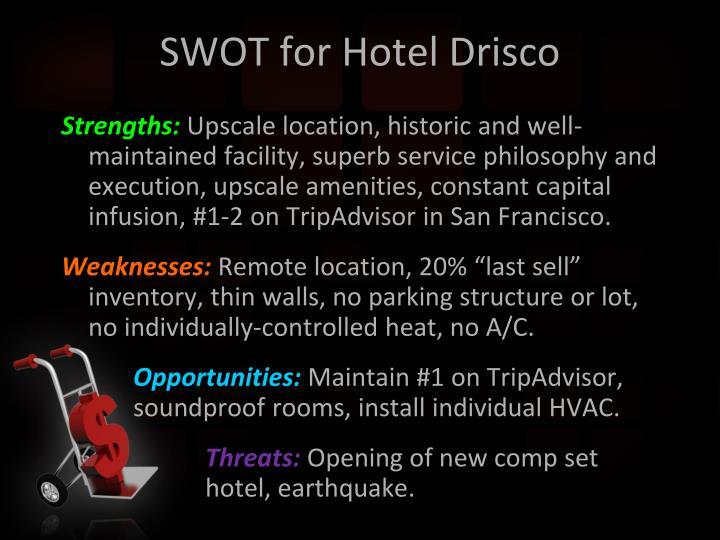 SWOT for Hotel Drisco