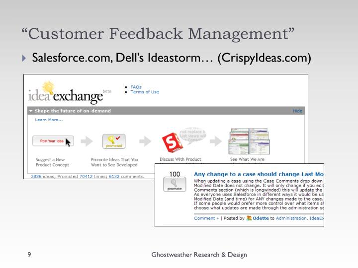 """Customer Feedback Management"""