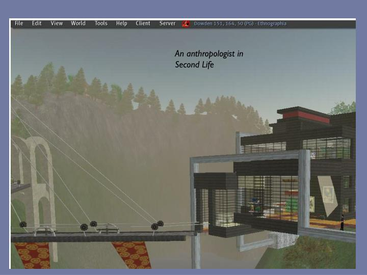 An anthropologist in Second Life
