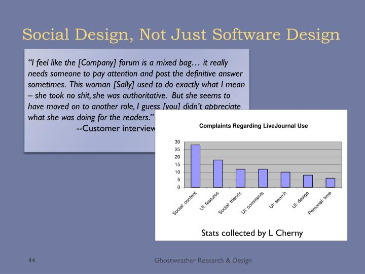 Social Design, Not Just Software Design