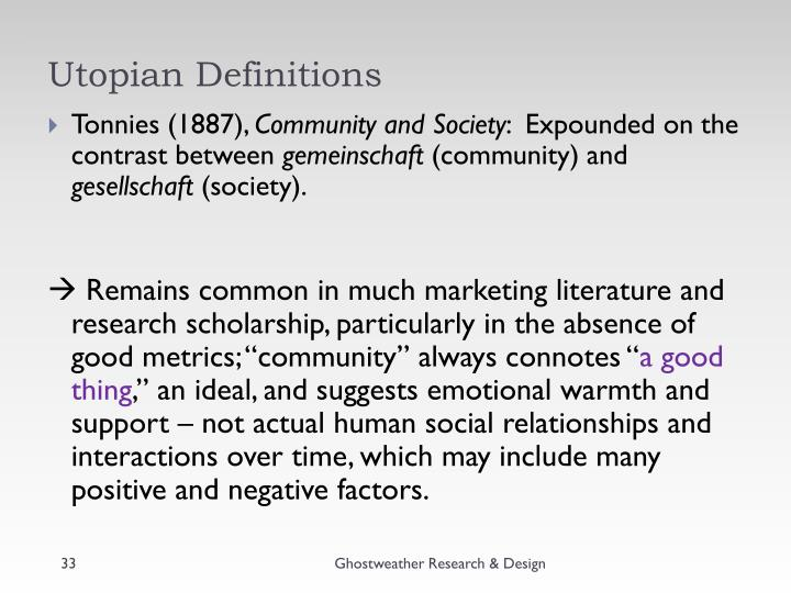 Utopian Definitions