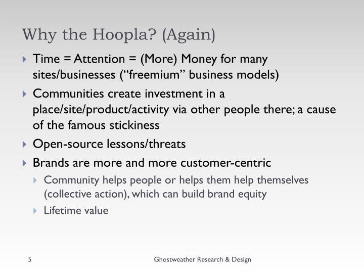 Why the Hoopla? (Again)