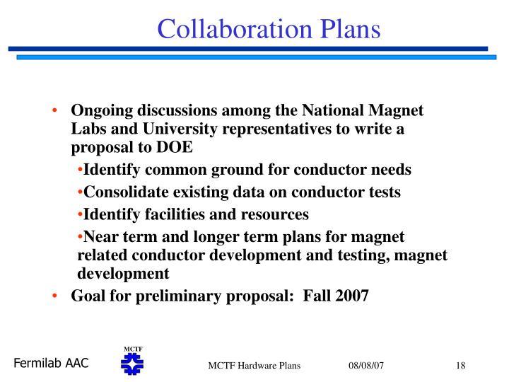 Collaboration Plans