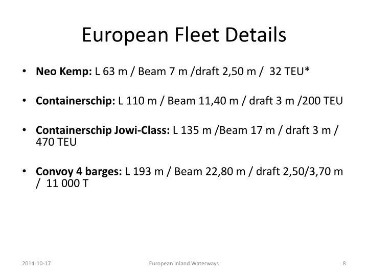 European Fleet Details