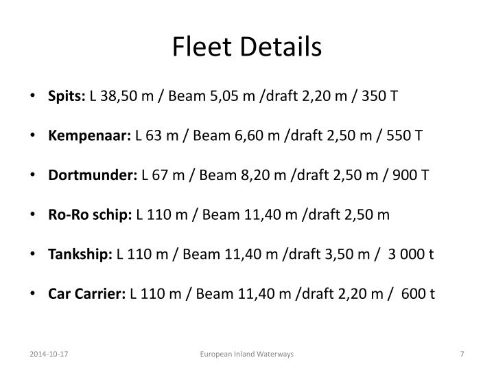 Fleet Details