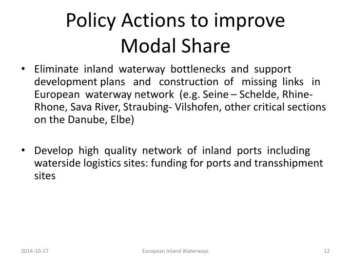 Policy Actions to improve