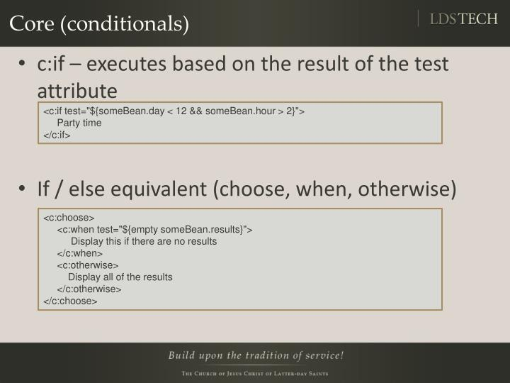 Core (conditionals)