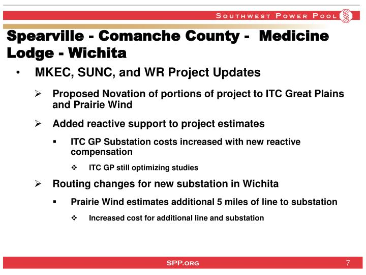 Spearville - Comanche County -  Medicine Lodge - Wichita