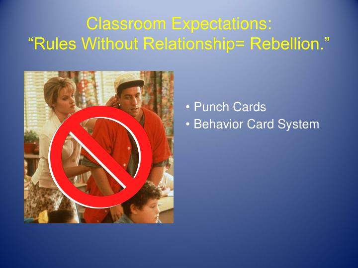 Classroom Expectations: