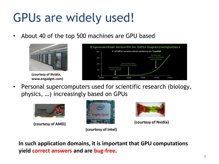 GPUs are widely used!