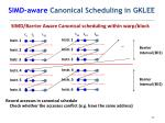 simd aware canonical scheduling in gklee