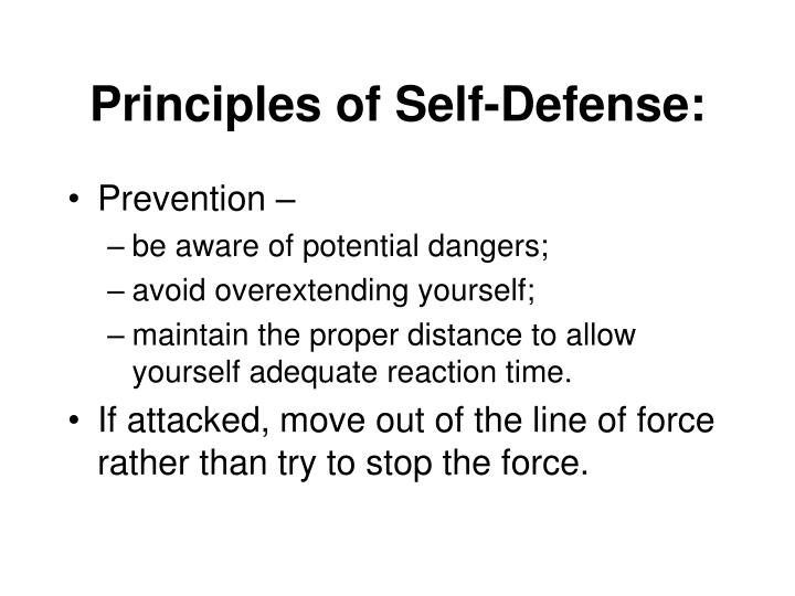 Principles of Self-Defense: