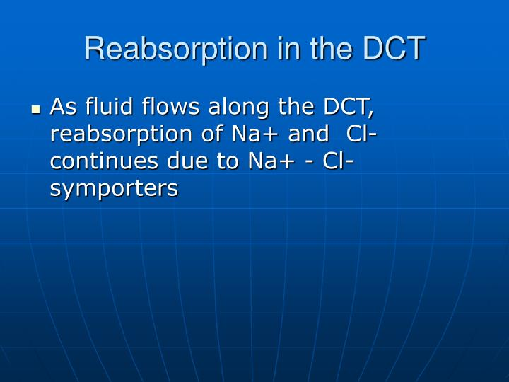 Reabsorption in the DCT