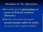 mandatos de t afirmativos10