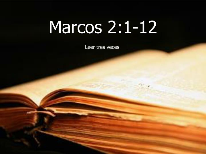 Marcos 2:1-12
