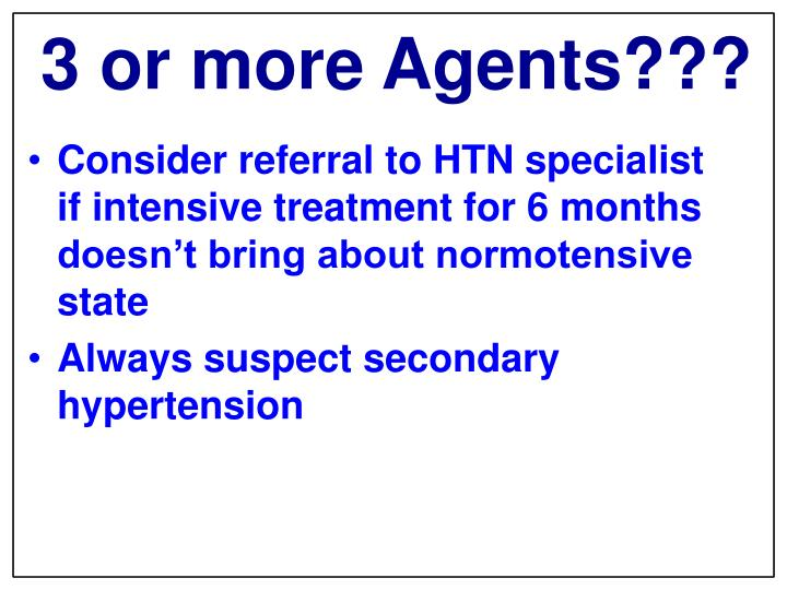3 or more Agents?
