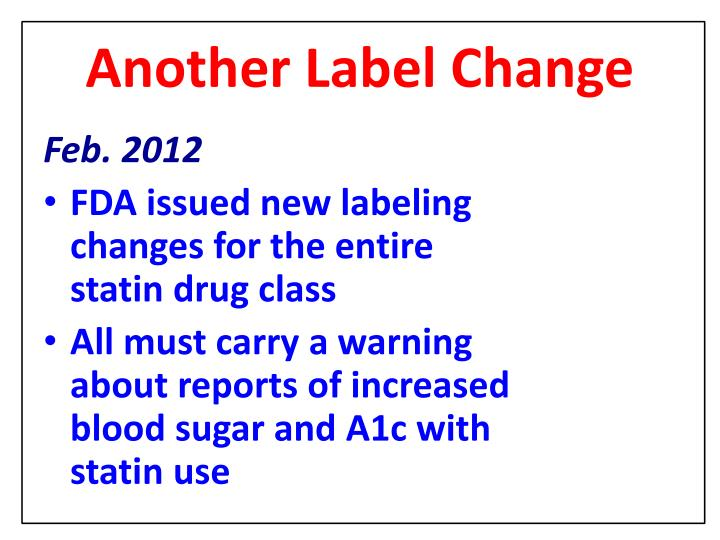 Another Label Change