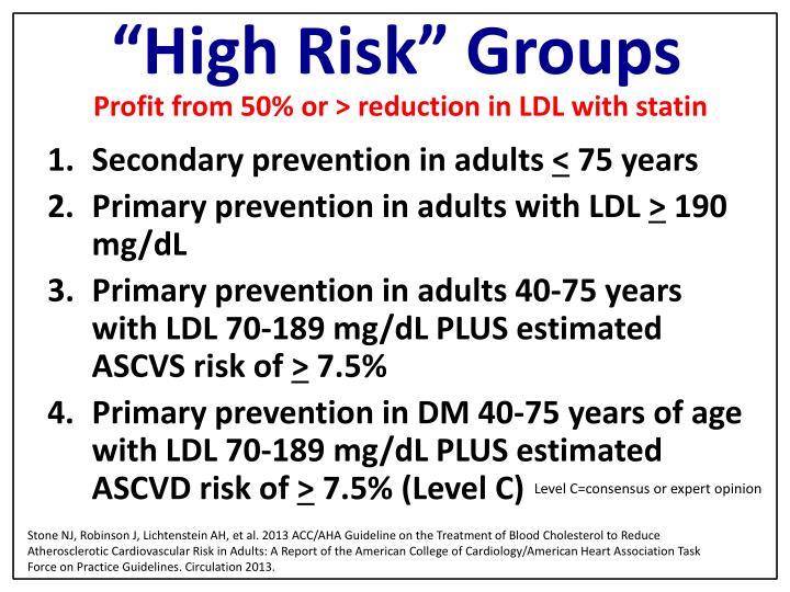 """High Risk"" Groups"