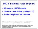 jnc 8 patients age 60 years