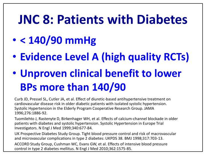 JNC 8: Patients with Diabetes