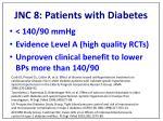 jnc 8 patients with diabetes