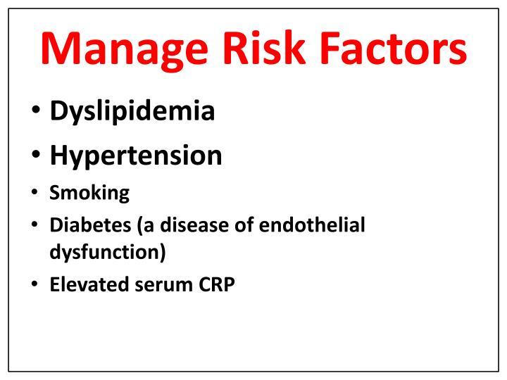 Manage Risk Factors