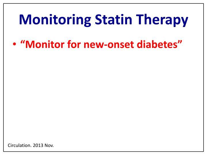 Monitoring Statin Therapy