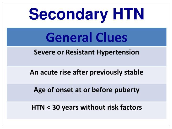 Secondary HTN