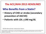 the acc aha 2013 headlines