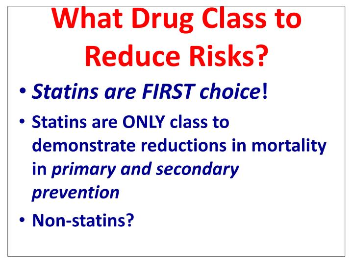 What Drug Class to Reduce