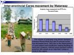 inter provincial cargo movement by waterway