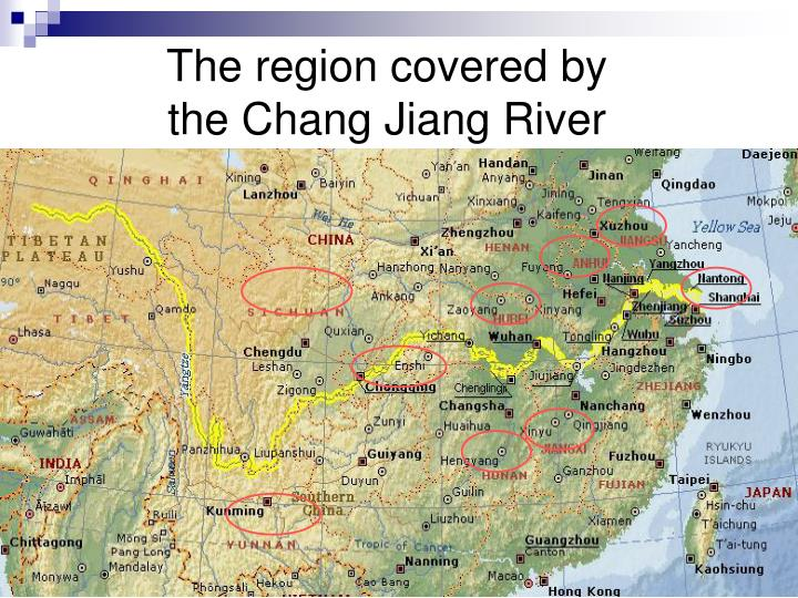 The region covered by