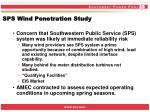 sps wind penetration study