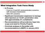 wind integration task force study