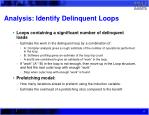 analysis identify delinquent loops
