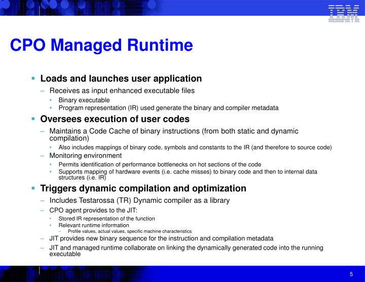 CPO Managed Runtime