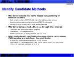 identify candidate methods