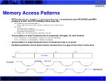 memory access patterns