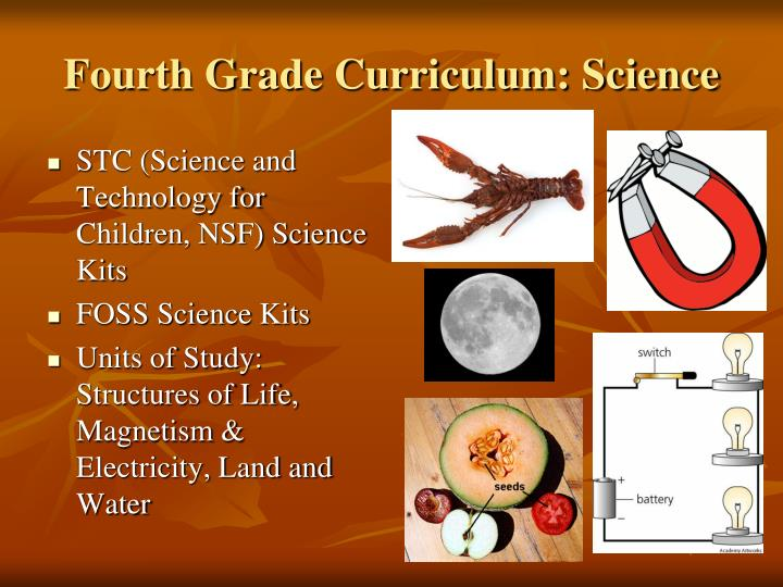 Fourth Grade Curriculum: Science