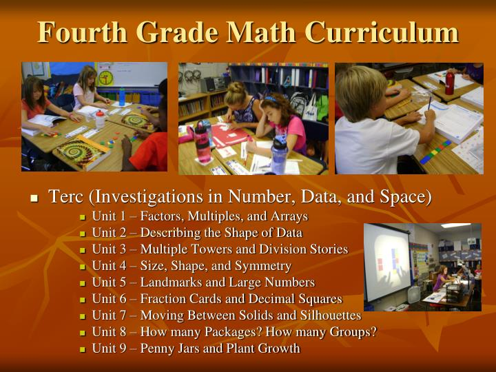 Fourth Grade Math Curriculum