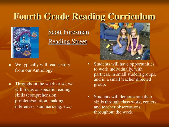 Fourth Grade Reading Curriculum